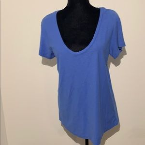 NWT JAMES PERSE 4 t shirt blueish purple scoop